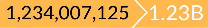 Shortened Huge Amounts